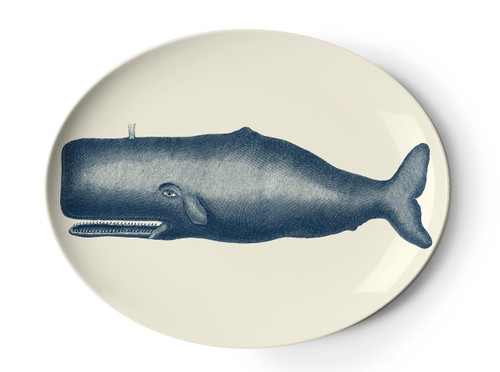 Scrimshaw Moby Whale Tray
