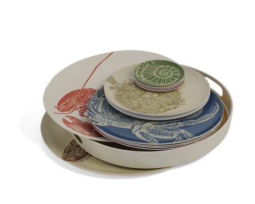 Sea Life Side Plates Set of Four