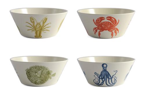 Sea Life Small Bowls Set of Four