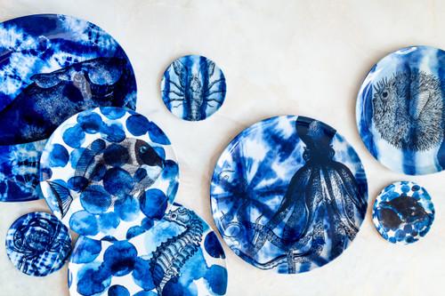 Shibori Sea Life Coasters Set of Four