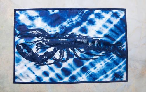Shibori Lobster Tea Towel
