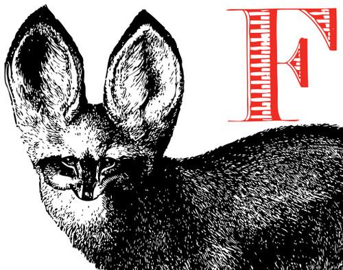 Alphabet Print F Fox