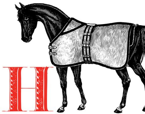 Alphabet Print H Horse