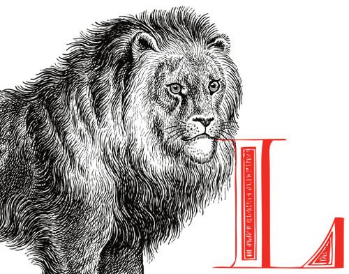 Alphabet Print L Lion