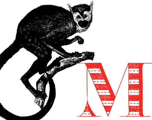 Alphabet Print M Monkey