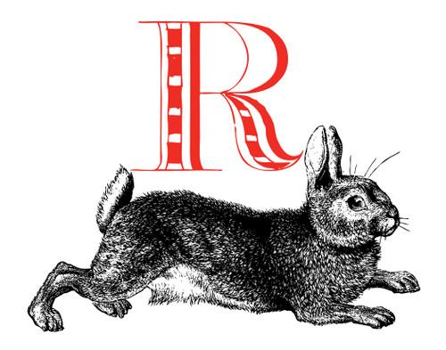 Alphabet Print R Rabbit