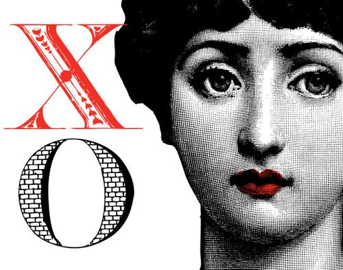 Alphabet Print X XO