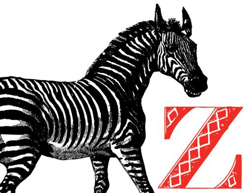 Alphabet Print Z Zebra