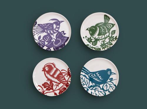 Aviary Side Coasters Set of 4