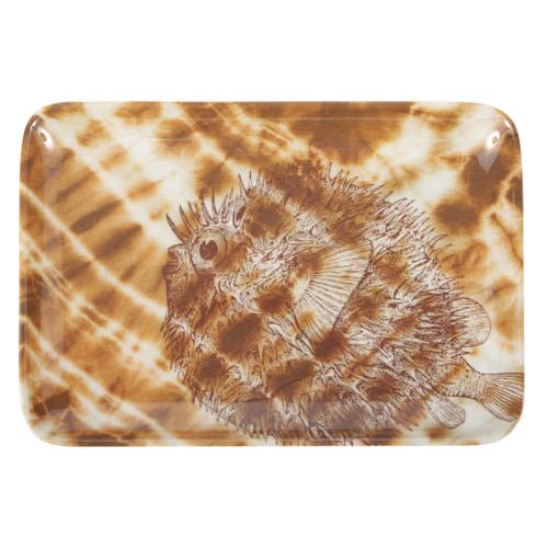 Shibori Puffer Fish Soap Dish/Tray