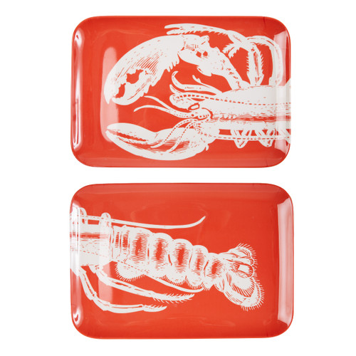 Lobster Two Piece Tray Set
