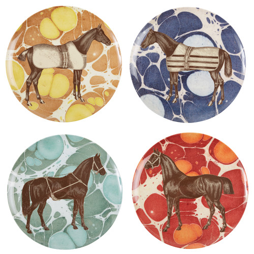 Equus Melamine Dinner Plates