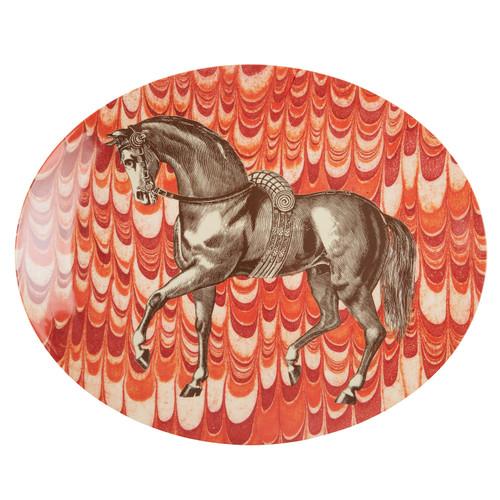 Equus Melamine Oval Platter