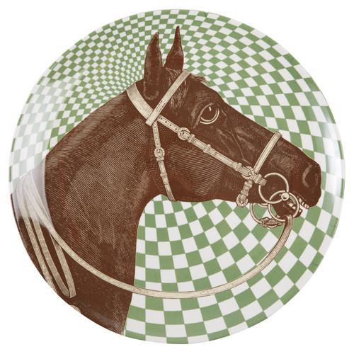 Equus Melamine Large Round Platter