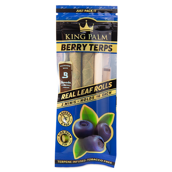 King Palm Mini Rolls Berry Terps 2 Pack