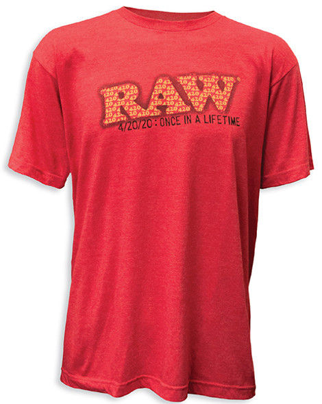 RAW 4.20.20 Limited Edition Heather Red T-Shirt