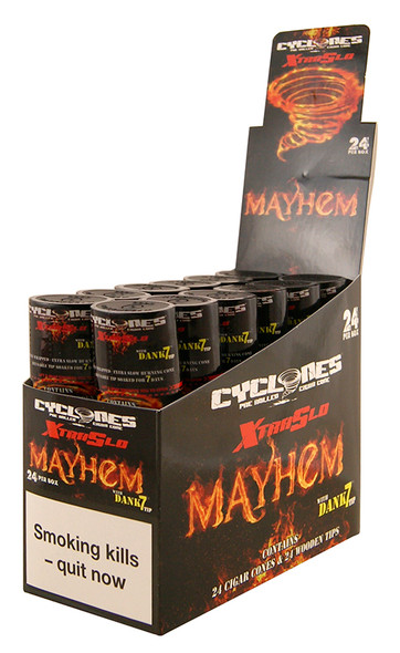 CYCLONES Mayhem Double Wrapped Pre-Rolled Blunt Cone 2 per Pack