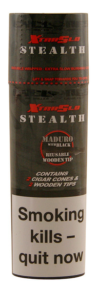 CYCLONES Stealth Double Wrapped Pre-Rolled Blunt Cone 2 per Pack