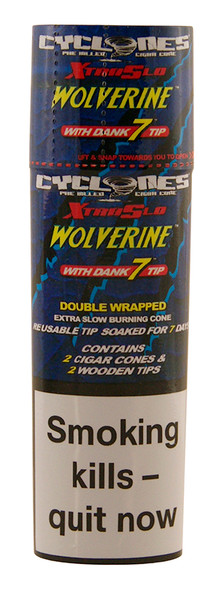 CYCLONES Wolverine Double Wrapped Pre-Rolled Blunt Cone 2 per Pack