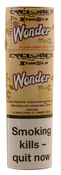 CYCLONES Wonder Double Wrapped Pre-Rolled Blunt Cone 2 per Pack
