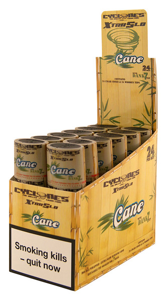 CYCLONES Cane Double Wrapped Pre-Rolled Blunt Cone 2 per Pack