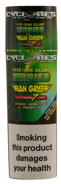 CYCLONES Herb Cone Blunt Mean Green with Dank 7 Tip