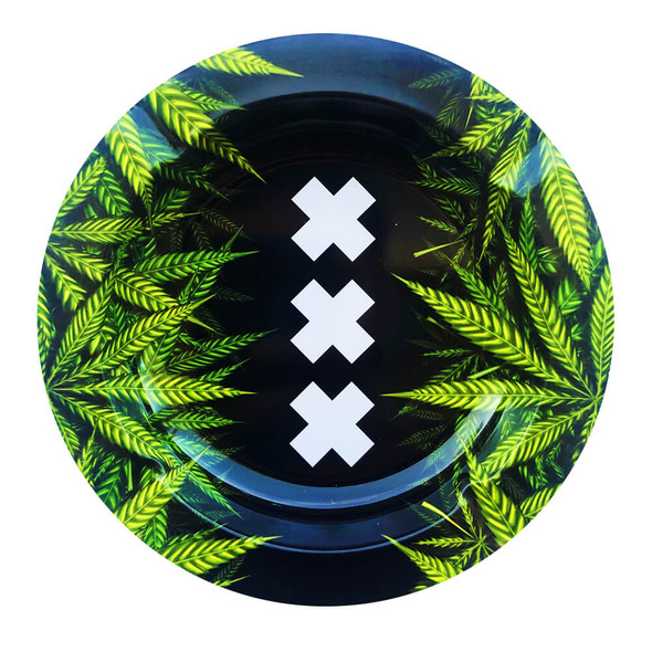 Best Buds XXX Amsterdam Weed Leaves Metal Ashtray