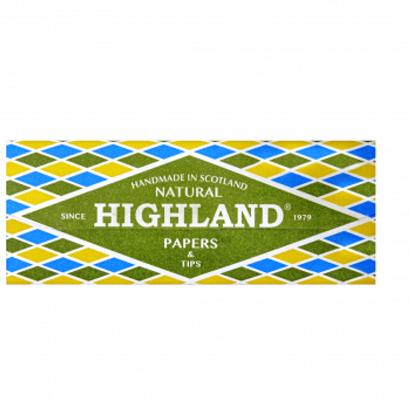 HIGHLAND Natural King Size Rolling Papers & Tips