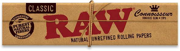 RAW Classic Connoisseur King Size Slim Rolling Papers + Tips