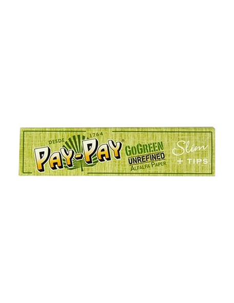 Pay Pay GoGreen Slim Rolling Papers + Tips