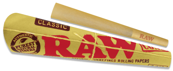 RAW Classic 1-1/4 Pre-Rolled Cones 6 Pack