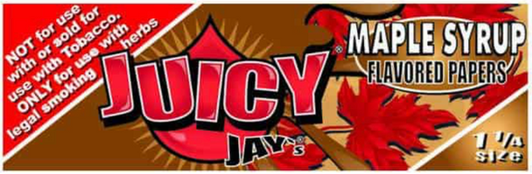 Juicy Jay's 1-1/4 Maple Syrup Flavoured Rolling Papers
