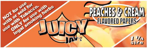 Juicy Jay's 1-1/4 Peaches & Cream Flavoured Rolling Papers