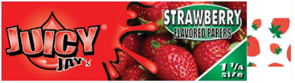 Juicy Jay's 1-1/4 Strawberry Flavoured Rolling Papers