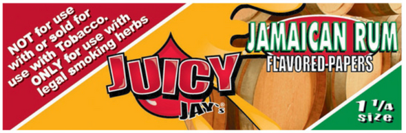 Juicy Jay's 1-1/4 Jamaican Rum Flavoured Rolling Papers