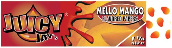 Juicy Jay's 1-1/4 Mello Mango Flavoured Rolling Papers