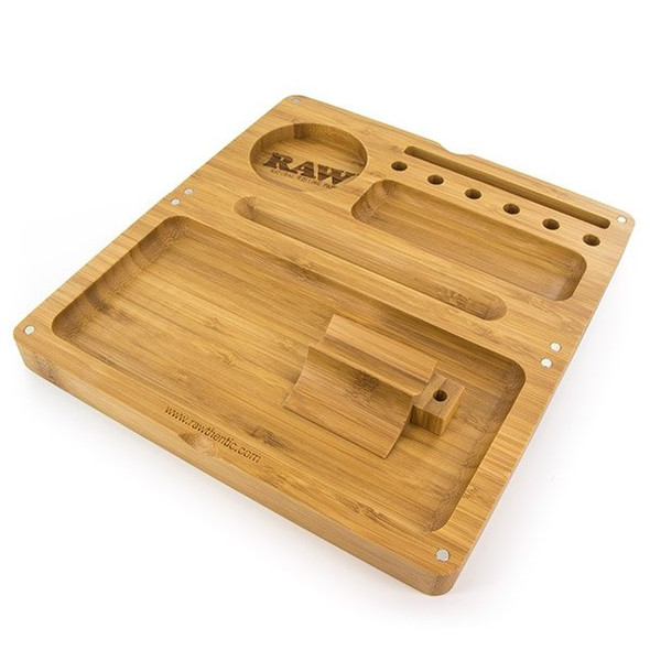 RAW Backflip Bamboo Rolling Tray with Magnet