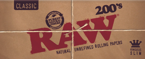 RAW Classic 200's King Size Creaseless Rolling Papers