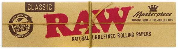 RAW Classic Connoisseur King Size Slim Rolling Papers + Pre-Rolled Tips