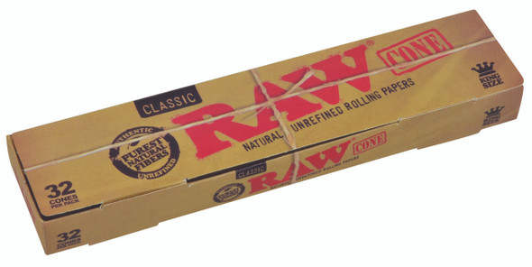 RAW Classic Pre-Rolled Cone King Size 109mm 32 Pack