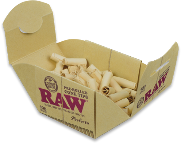 RAW Perfecto Pre-Rolled Cone Tips 100 Pack