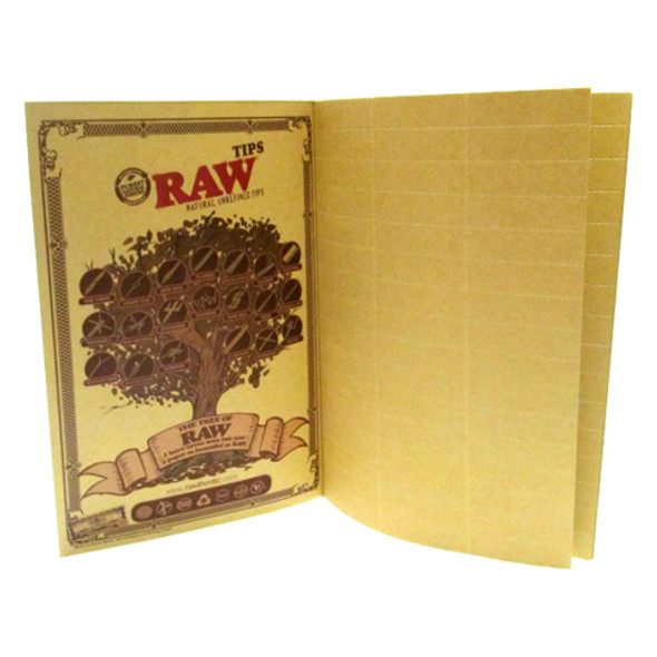 RAW Classic The RAWlbook 480 Natural Unrefined Tips