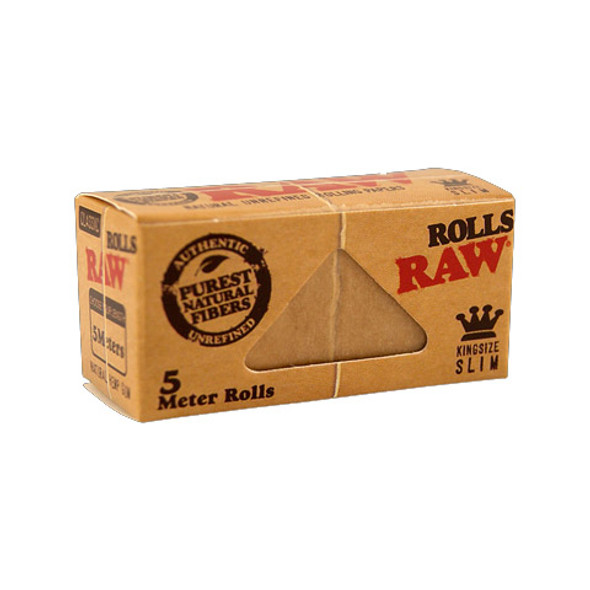 RAW Classic King Size Slim Rolls Rolling Papers 5m