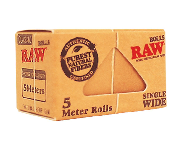 RAW Classic Single Wide Rolls Rolling Papers 5m