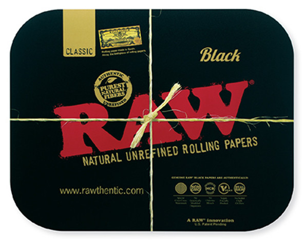 RAW Large Black Magnetic Rolling Tray Cover (Tray Not Included)