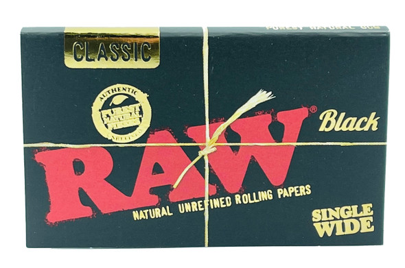 RAW Classic Black Single Wide Double Window Rolling Papers