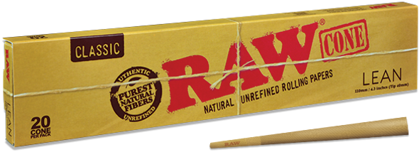 RAW Classic Lean Pre-Rolled Cone 110mm (40mm Tip)