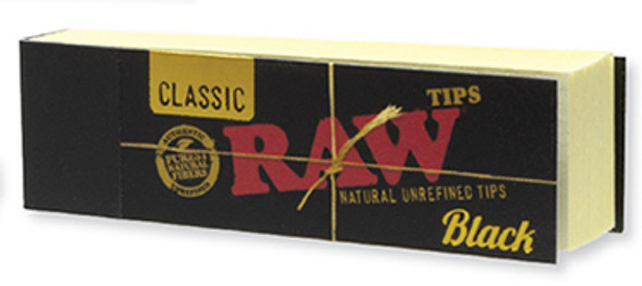 RAW Classic Black Tips Non Perforated