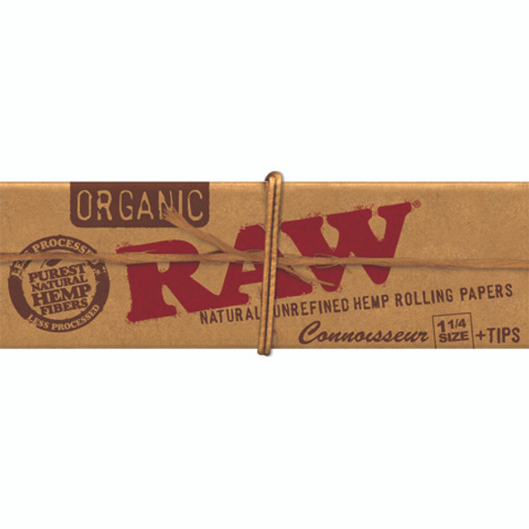 RAW Organic Hemp Connoisseur 1-1/4 Rolling Papers + Tips