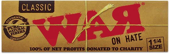 RAW Classic WAR on Hate 1-1/4 Rolling Papers